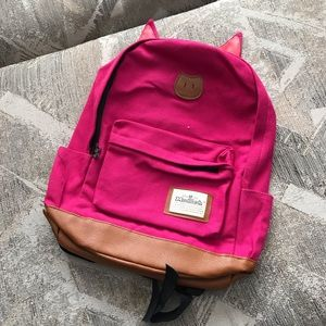 Modish Pink Pig Leather Lined Backpack
